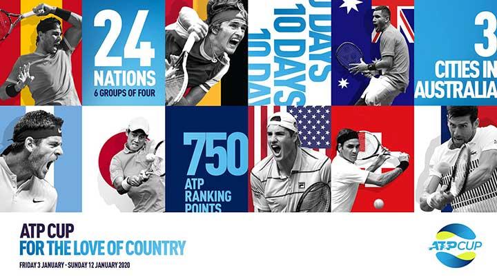 ATPカップ2020の放送予定(ネット中継)、組み合わせドロー、日本代表の試合日程(錦織圭欠場)