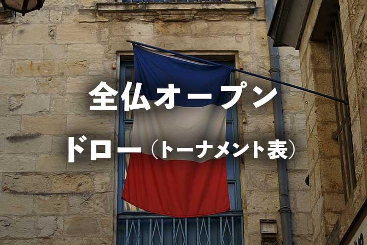 全仏オープンのドロー(トーナメント表)