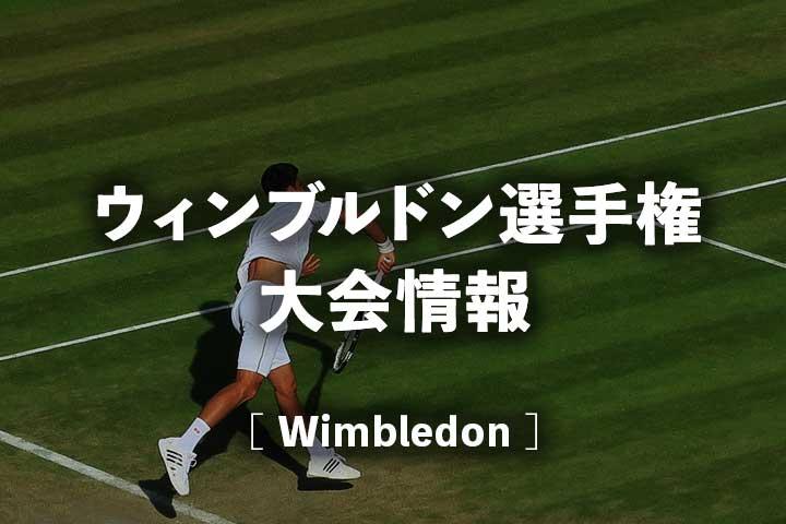 【ウィンブルドン選手権2021】日程、錦織圭の試合放送予定、ドロー、ポイント|全英オープンテニス