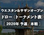 シンシナティオープン2020のドロー(トーナメント表)!ウエスタン&サザンOPの男子シングルス組み合わせ
