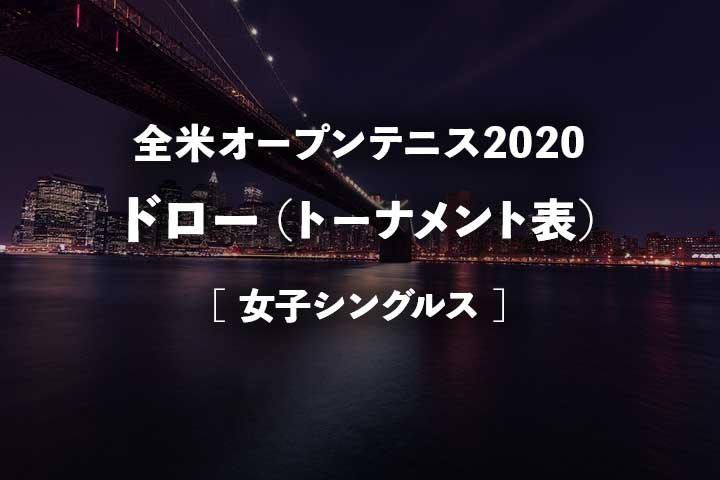 【全米オープンテニス2020 女子ドロー】トーナメント表と大坂なおみの組み合わせ