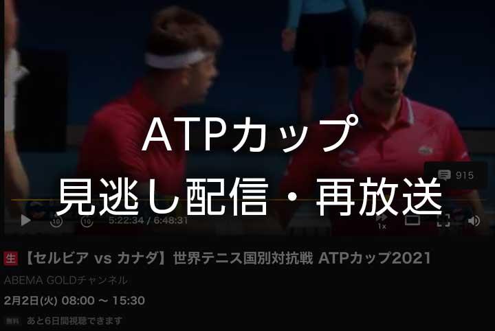 【ATPカップ見逃し配信】錦織圭・西岡良仁テニス中継の再放送を無料視聴で見る方法|国別対抗戦2021年